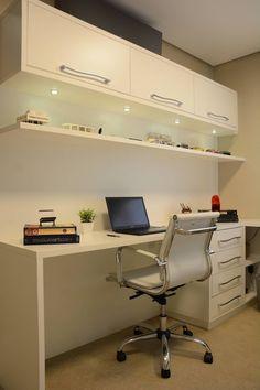 Home office cabinets computer desks ideas Study Table Designs, Study Room Design, Home Room Design, House Design, Design Bedroom, Small Home Offices, Home Office Space, Home Office Decor, Home Decor