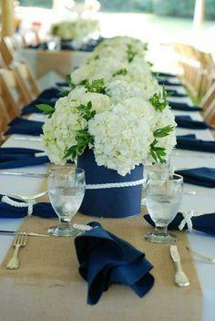 90 Ideas Nautical Centerpieces For Summer Wedding Blue Wedding, Wedding Table, Summer Wedding, Wedding Flowers, Wedding Ideas, Rustic Wedding, Wedding Reception, Bridal Shower Decorations, Wedding Decorations