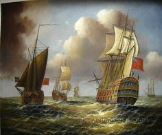 """Coast Hand Painted Neoclassical Oil Paintings Artists Sailboat, Size: 24"""" x 20"""", $85. Url: http://www.oilpaintingshops.com/coast-hand-painted-neoclassical-oil-paintings-artists-sailboat-2028.html"""