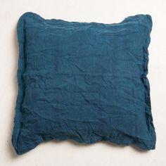 Kussen, linnen, blauw, 50 x 50 cm