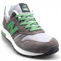 new balance gris con verde