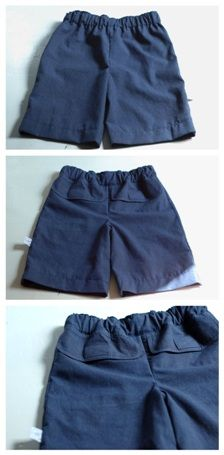 Tutorial: Make a pair of boys' shorts from a man's dress shirt · Sewing | CraftGossip.com