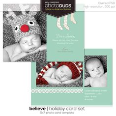 Christmas card Newborn announcement from photoDUDS