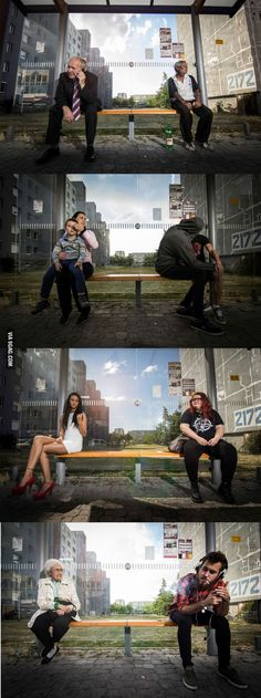 Social contrast photographs. - 9GAG