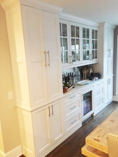 Bremel Project Dining Area, Kitchen Dining, Kitchen Cabinets, Dining Room, Butler Pantry, Entry Hall, Kitchen Organization, Tall Cabinet Storage, Layout