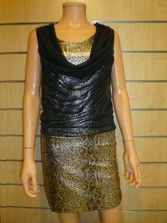 Robe dorée Bella voilage 2423