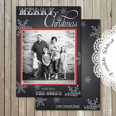 Printable Card  Christmas Card  Family by GoldenMomentsDesign, $10.00