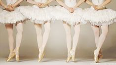 "Now get out there and work your ""en pointe"" ballerina outfit. 