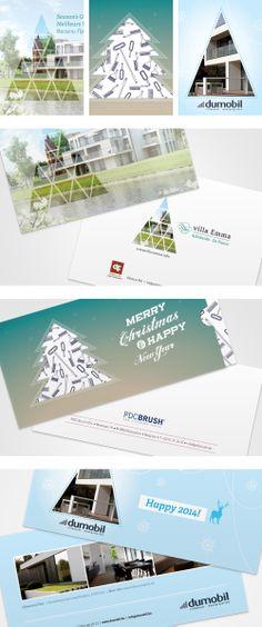 Kerstkaarten voor Villa Emma, PDC Brush en Dumobil