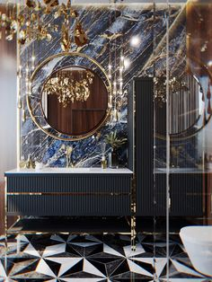 Luxury Bathroom design by VITTAGROUP on Behance Washroom Design, Toilet Design, Bathroom Design Luxury, Luxury Homes Interior, Luxury Home Decor, Home Interior Design, Interior Design Inspiration, Design Ideas, Estilo Hollywood Regency