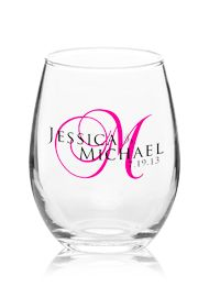 discount custom wine glasses in bulk