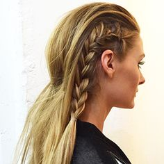 Learn how to create Olivia's edgy rock 'n' roll braids.