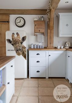 Sticker Giraffe sticker • Inspiraties • PIXERS.nl