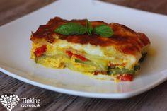 Vege francúzske zemiaky Lasagna, Quiche, Veggies, Healthy Eating, Vegetarian, Tasty, Dinner, Breakfast, Ethnic Recipes