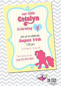My Little Pony Birthday Invitation - Printable