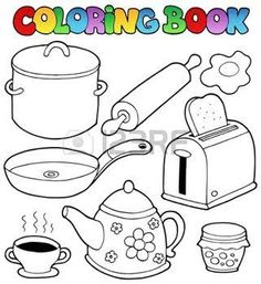 household appliance for kids coloring - Buscar con Google