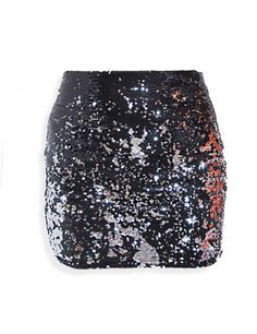 Two-toned sequin skirt #holiday #party #stylesofia