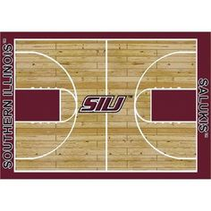 """College Court Southern Illinois Salukis Rug Size: 10' 9""""x13' 2"""" $718.80"""
