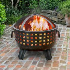LANDMANN USA Garden Lights W Antique Bronze Steel Wood-Burning Fire Pit at Lowe's. There's something very visceral and calming about basking in the warmth of a fire - make it that in the Landmann Garden Lights Savannah Fire Pit - Antique Propane Fire Pit Table, Wood Fire Pit, Steel Fire Pit, Wood Burning Fire Pit, Fire Pit Wayfair, Savannah Gardens, Outdoor Fire, Outdoor Decor, Outdoor Living