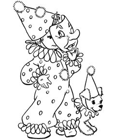 Hallowen Coloring, Clown Costume Halloween Coloring Pages Print Out: Clown Costume Halloween Coloring Pages Print OutFull Size Image