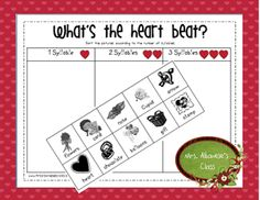 """What's the Heart Beat?"" Syllable Activity (free)"