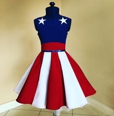 4th of July dress , lajupemix , kids fashion , patriotic dress , kids dress , captain America dress