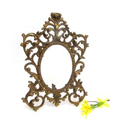 Antique Victorian Ornate Cast Iron Photo by CreekLifeTreasures