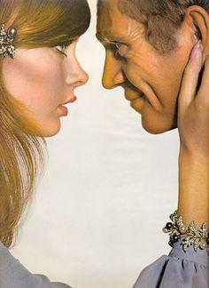 Jean Shrimpton and Steve McQueen, Harper's Bazaar 1965