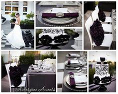 urban glam- grey, dark purple and white.