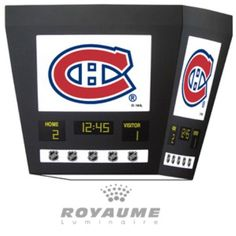 Scoreboard ceiling lamp - need to find/make an FSU version of this Boy Sports Bedroom, Hockey Bedroom, Montreal Canadiens, Pro Hockey, Theme Sport, Hockey Crafts, Boy Decor, Man Room, Child Room