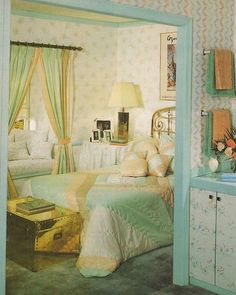 Vintage home decorating trends bedroom, bedroom vintage, vi Vintage Bedroom Sets, Vintage Room, 80s Furniture, Retro Room, Retro Home Decor, The Sims, Of Wallpaper, My New Room, Decoration