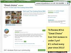 """#Chef #LeeZ review 341 """"Great Choice"""" #1 #school. Over 340 #reviews in under 3 yrs! Clipped from www.tripadvisor.co.uk"""