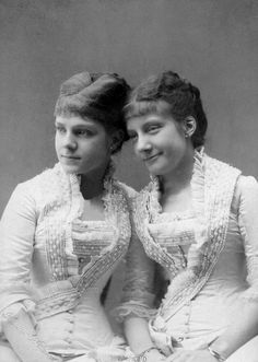 Their Royal Highnesses Infanta Eulalia (1864–1958) and Infanta María de la Paz (1862–1946) of Spain