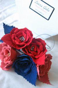 Llaveros rojo, coral y azul Luisa Gala