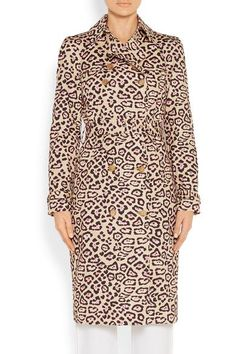 Givenchy - Trench Coat In Leopard-print Cotton - Leopard print - FR40