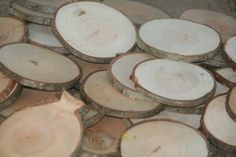 Rustic Wood Disc Dried Tree Slices 10 Medium Cherry Tree Cookies Wood Blanks Wood Burning Blanks Name Tags Wedding Decor Art Craft Blanks. $10.00, via Etsy.
