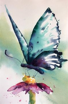 Butterfly Painting, Butterfly Watercolor, Butterfly Art, Monarch Butterfly, Painting & Drawing, Watercolor Paintings, Watercolours, Art Abstrait, Watercolor Techniques