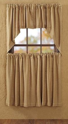 Burlap Natural Swag Curtains – Primitive Star Quilt Shop
