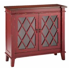 Stein World Goshen Cabinet With Glass Doors