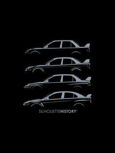 Mitsubishi Lancer EVO SilhouetteHistory artwork