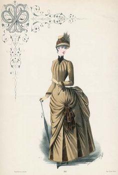 1885 robe de promenade