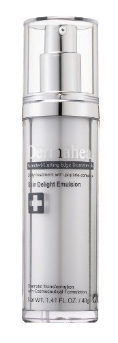 Dermaheal Cosmeceuticals Skin Delight Emulsion, 40g by Dermaheal Cosmeceuticals. $120.00. Providing continuous moisture to the skin while penetrating the cells with our medical grade brightening ingredients  This product is ideal for more sensitive skin with aggressive pigmentation problems. We Recommend this product for hyper pigmentation uneven skin tone. This ultra-light fluid emulsion gently soothes and moisturizes the skin leaving it soft smooth and radiant Our innovat...