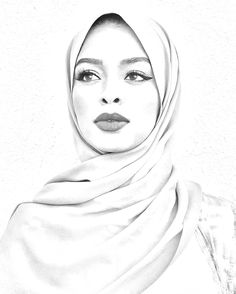 20 Seriously Brilliant Inventions That Could Change Your Life Abstract Pencil Drawings, Pencil Drawings Of Girls, Realistic Pencil Drawings, Girl Drawing Sketches, Portrait Sketches, Cool Art Drawings, Portrait Art, Hijab Drawing, Beauty Art