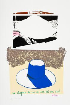 Jean-Michel Alberola : Le Chapeau du roi de rien est son seul décor | Centre de la Gravure et de l'Image imprimée