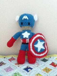 Crochet Amigurumi Avengers Captain America Doll by ShimmereeCreations on Etsy