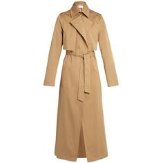 Raey Cotton-gabardine trench coat (59.005 RUB) ❤ liked on Polyvore featuring outerwear, coats, raey, tan, tan trench coat, gabardine trench coat, beige trench coat, tan coat and gabardine coat