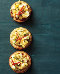 Make This at Your Next Party: Chef David Burke's Green Onion Jalapeño Waffle with Deviled Egg Salad  #InStyle