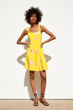 b822f0bd Las 7 mejores imágenes de vestido amarillo zara en 2016 | Cute ...