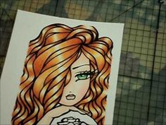 Color skin and hair with Prisma Pencils... GREAT tutorial!