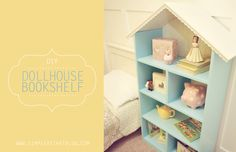 DIY:: Dollhouse Bookshelf. Could also do a firehouse or police station.